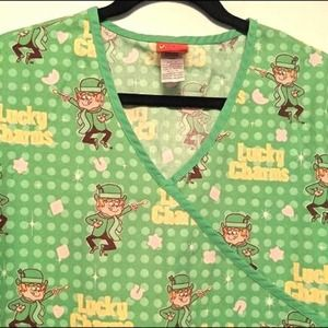Lucky Charms Green Scrub Size Med